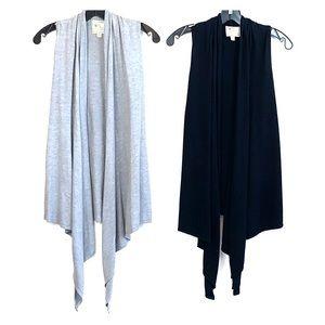 2 PC PINK ROSE Shawl Drape Open Cardigan Top M